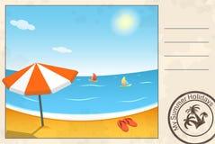 De zomerprentbriefkaar Stock Foto's