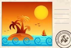 De zomerprentbriefkaar Stock Afbeeldingen