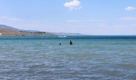 De de zomerpret draagt Meer Logan Utah stock fotografie