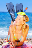 De zomerpret op het strand royalty-vrije stock foto's