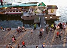 De zomerrecreatie in Praag Stock Foto's