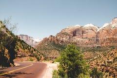 De zomerreis aan Zion National Park, Utah, de V.S. stock afbeeldingen