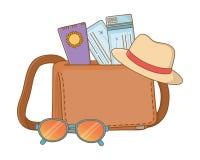 De zomerreis van de toeristenreis stock illustratie