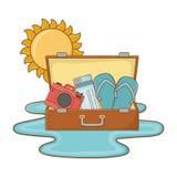 De zomerreis van de toeristenreis royalty-vrije illustratie