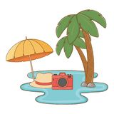 De zomerreis van de toeristenreis vector illustratie