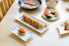De Zomerrij van Maki Sushi of van Sushi stock foto