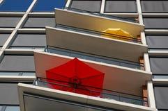 De zomers parasols Royalty-vrije Stock Foto's