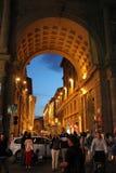 De zomersnacht van Florence, Italië Stock Afbeeldingen