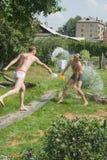 De zomerspelen van Mens Stock Foto