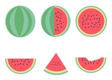 De zomerstijl van het watermeloen vectorontwerp Stock Fotografie