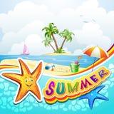 De zomerstrand Stock Foto's