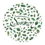De zomertekst Stock Foto