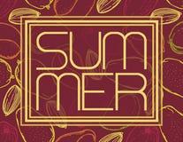 De zomertekst E Malplaatje voor affiche, bannerdrukken royalty-vrije illustratie