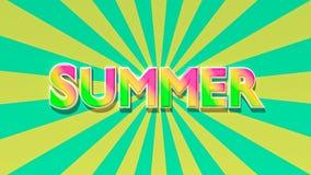 De zomertekst het 3d teruggeven Stock Fotografie
