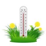 De zomerthermometer Stock Afbeeldingen