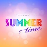De zomertijd Stock Foto's