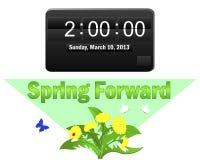 De zomertijd begint. 10 maart, 2013. Stock Afbeeldingen