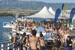 De zomertijd bij Kroatische kust Stock Foto