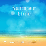 De zomertijd, de zomerachtergrond vector illustratie