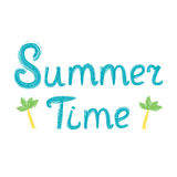 De zomertijd het van letters voorzien Royalty-vrije Stock Foto