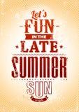 De zomertypografie Stock Foto's