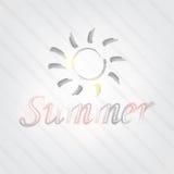 De zomertypografie Royalty-vrije Stock Fotografie