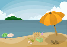 De zomervakantie stock afbeeldingen