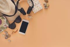 De zomervakantie die, reisachtergrond voorbereidingen treffen Stock Foto's