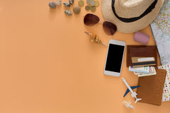 De zomervakantie die, reisachtergrond voorbereidingen treffen Royalty-vrije Stock Afbeelding