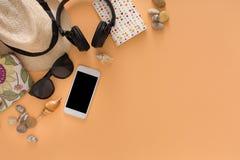 De zomervakantie die, reisachtergrond voorbereidingen treffen Stock Afbeelding