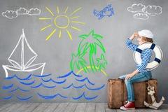 De zomervakantie en reisconcept Stock Foto