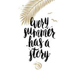 De zomervakantie en vakantiehand getrokken illustratie Stock Fotografie