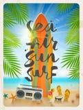 De zomervakantie en vakantieillustratie Royalty-vrije Stock Fotografie