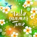 De zomervakantie en vakantieillustratie Stock Afbeeldingen