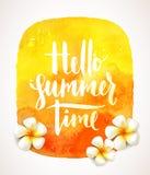 De zomervakantie en vakantieillustratie Royalty-vrije Stock Foto's