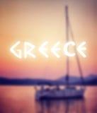 De zomervakantie in Griekenland Royalty-vrije Stock Foto