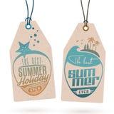 De zomervakantie Hang Tags Stock Afbeeldingen