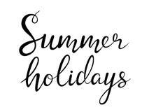 De zomervakantie het van letters voorzien Stock Foto