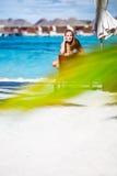De zomervakantie op het Strand Stock Fotografie