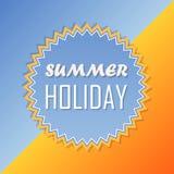 De zomervakantie, retro etiket, vlak ontwerp Royalty-vrije Stock Foto's