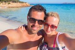 De zomervakantie selfie Royalty-vrije Stock Fotografie