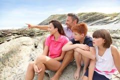 De zomervakantie van de familie royalty-vrije stock afbeelding