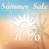 De zomerverkoop Stock Afbeelding