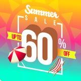 De zomerverkoop en speciale kortingen vector illustratie