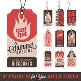 De zomerverkoop Hang Tags Royalty-vrije Stock Afbeeldingen