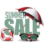 De zomerverkoop marketing kopbal royalty-vrije illustratie