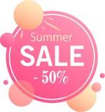 De zomerverkoop - modern ontwerp van banners stock illustratie