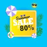 De zomerverkoop tot 80% achtergrond purpere paraplu 2 stock foto