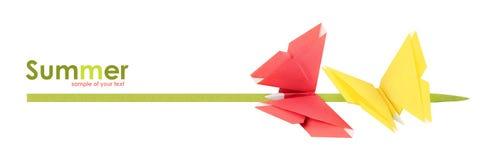 De zomervlinders van de origami Stock Afbeeldingen