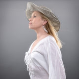 De zomervrouw Royalty-vrije Stock Foto